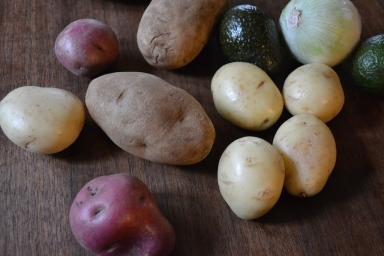 Potatoes, Avocado & White Onion