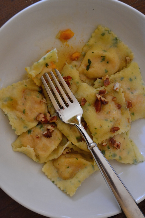 Sweet Potato and Country Ham Ravioli