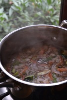 Shrimp Stock with Steam