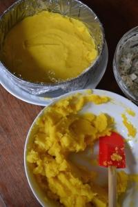 Layer of Yukon Gold Potato with Lime and Aji Amarillo