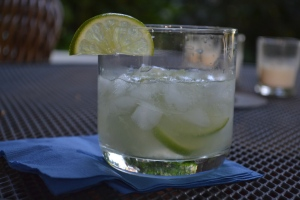 Capirinha with Lime Garnish