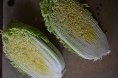 Halved Napa Cabbage