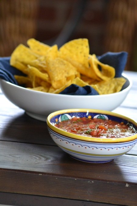 Roasted Tomato and Chipotle Salsa with Chips