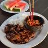 Korean Bulgogi with Steamed Rice & Kimchi