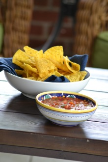 Chips & Roasted Tomato Salsa