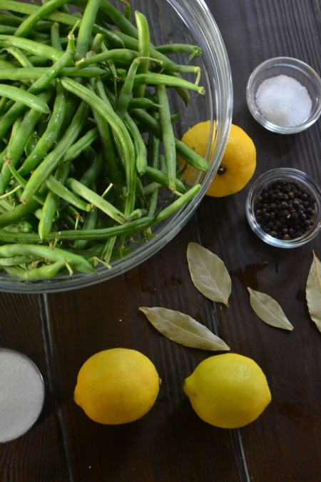 Ingredients for Quick Pickled Green Beans