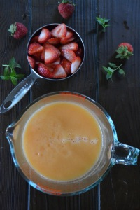 Strawberries and Cantaloupe Puree