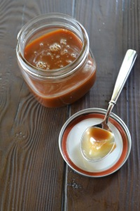 Salted Caramel Sauce with Spoon
