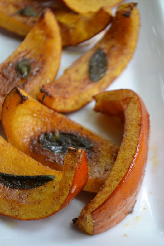 Roasted Pumpkin Wedges on Platter