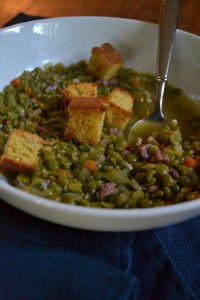 Close-up Split Pea Soup