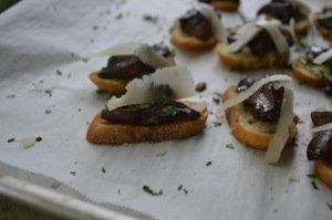 Crostini of Sauteed Wild Mushrooms