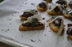 Crostini of Sauteed Wild Mushrooms