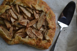 Rustic Apple Tart with Server