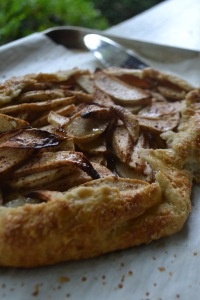 Close-up Rustic Apple Tart