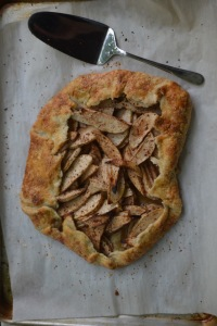 Rustic Apple Tart with White Wine Syrup