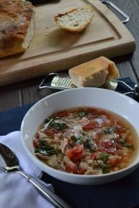 Escarole, Chicken and White Bean Soup