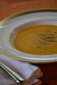 Butternut Squash, Pumpkin and Sweet Potato Soup with Star Anise
