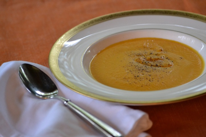 Butternut Squash, Pumpkin and Sweet Potato Soup