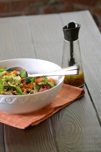 Persimmon and Pomegranate Salad with Dressing
