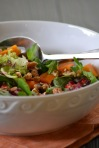 Close-up of Persimmon and Pomegranate Salad