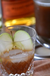 Bourbon and Apple Cider Syrup Cocktail