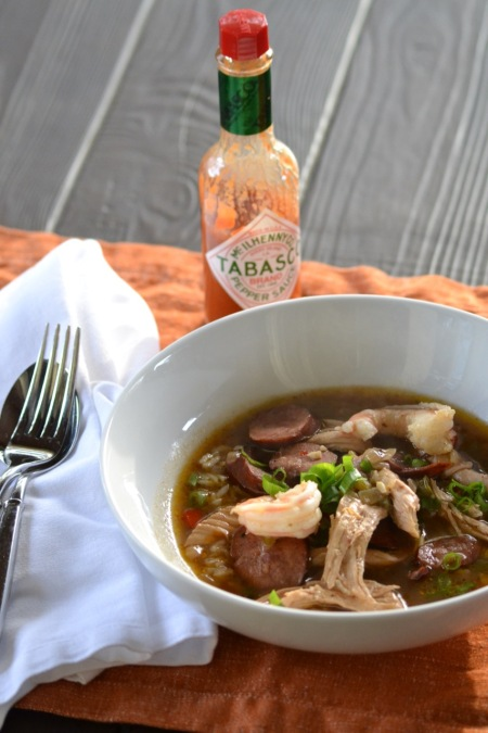 Sausage, Chicken and Shrimp Gumbo