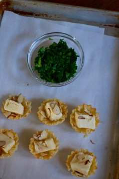 Brie Bites with Minced Parsley