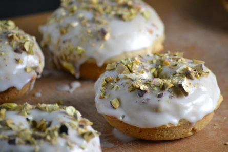 Buttermilk Donut with Lemon Glaze and Chopped Pistachios