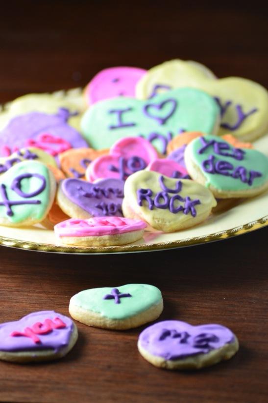 Conversation Heart Cookies (www.mincedblog.com)