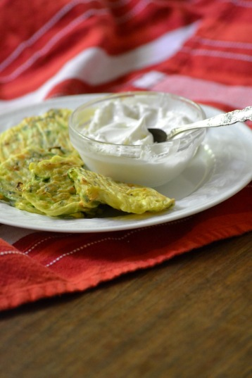 Baked Vegetable Fritters with Yogurt for Dipping