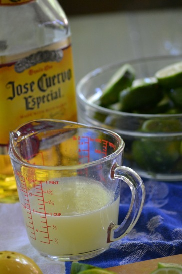 Lime Juice and Tequila for Margarita Pops (www.mincedblog.com)