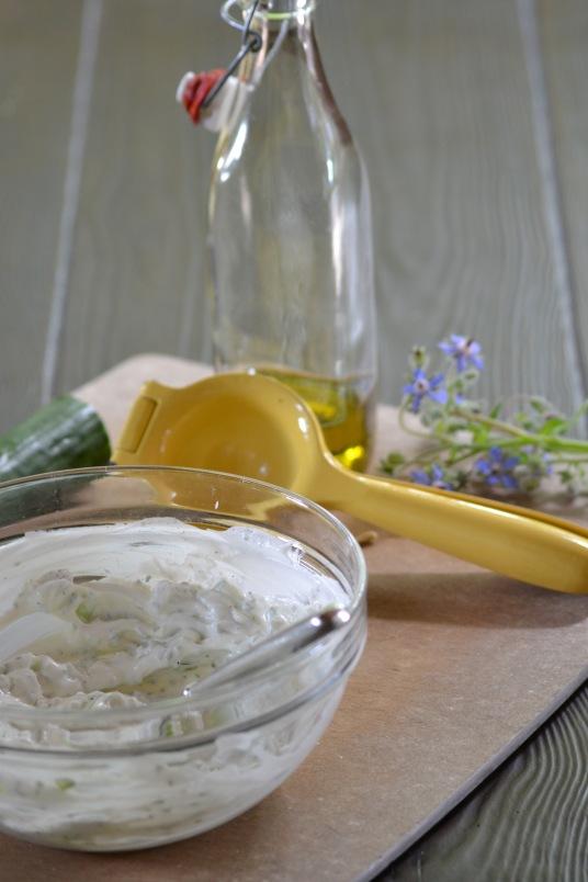 Borage Yogurt Sauce for Seared Salmon (www.mincedblog.com)