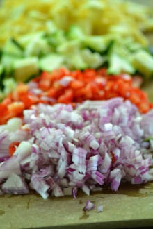Chopped Vegetables for Summer Vegetable Quiche (www.mincedblog.com)