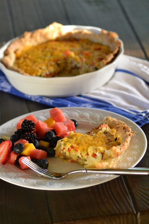 Summer Vegetable Quiche (www.mincedblog.com)