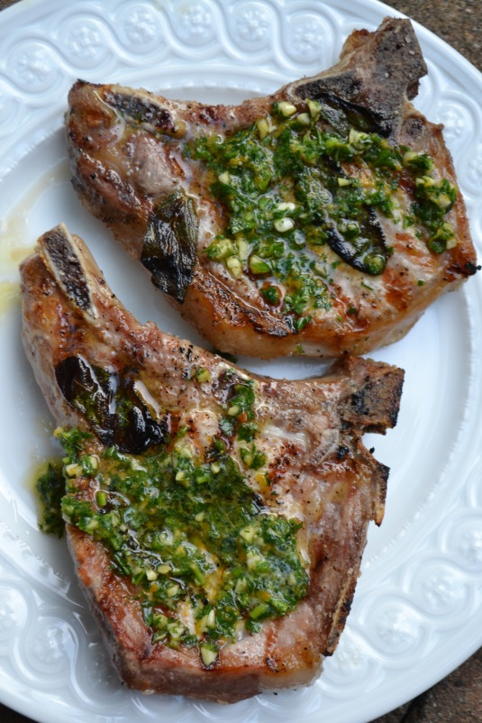 Pork Chops with Gremolata Butter (www.mincedblog.com)