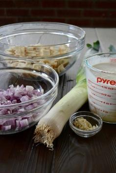 Savory Leek & Onion Bread Pudding (www.mincedblog.com)