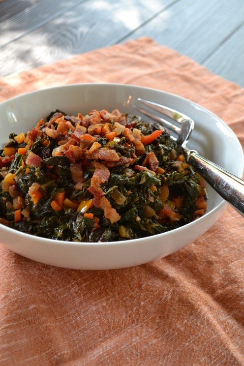 Winter Greens with Garlic and Bacon (www.mincedblog.com)