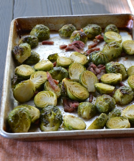Maple-Dijon Brussels Sprouts with Country Ham (www.mincedblog.com)