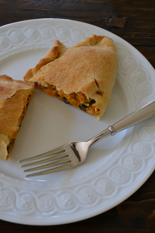 Sweet Potato, Black Bean and Goat Cheese Calzones  (www.mincedblog.com)